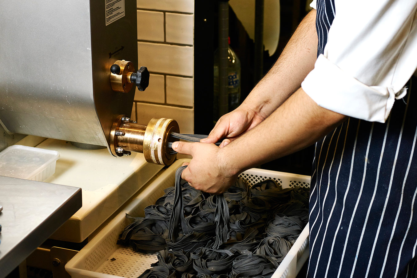 House Made squid ink Fettucine